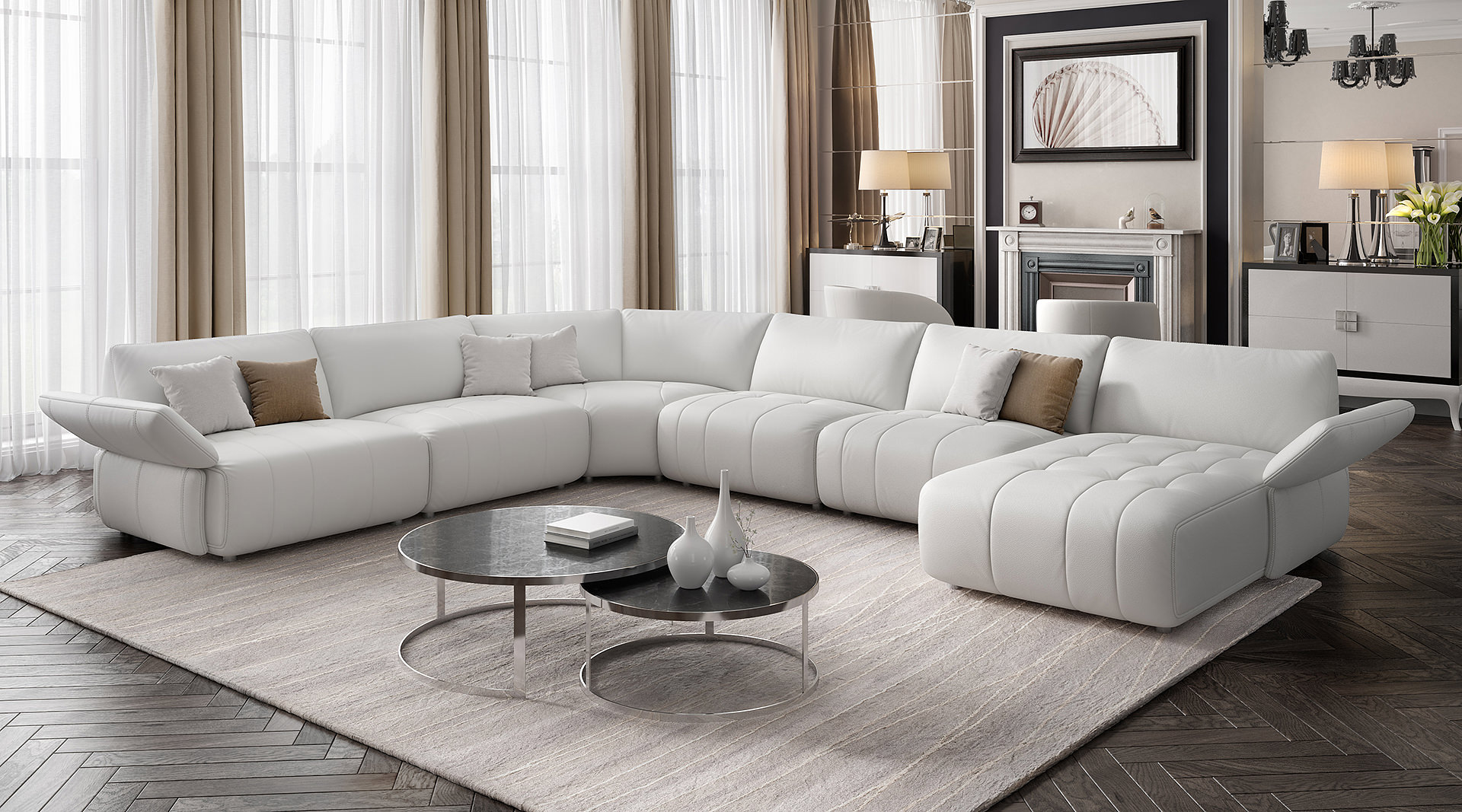 Sofa u form 3m m bel ideen und home design inspiration for Couch u form 3m